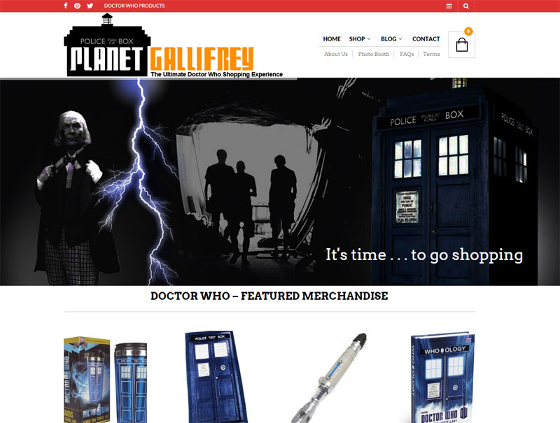 planet gallifrey doctor who merchandise