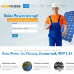 website mockup solar panel company