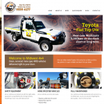 website mockup 4wd hire company
