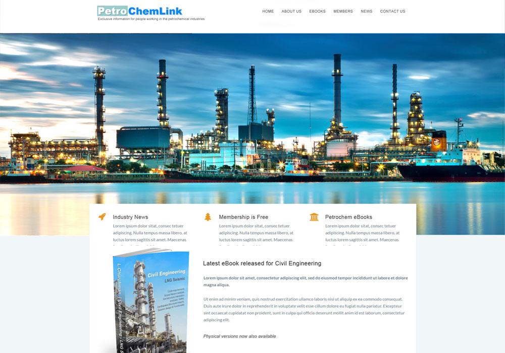 petrochemlink website mockup