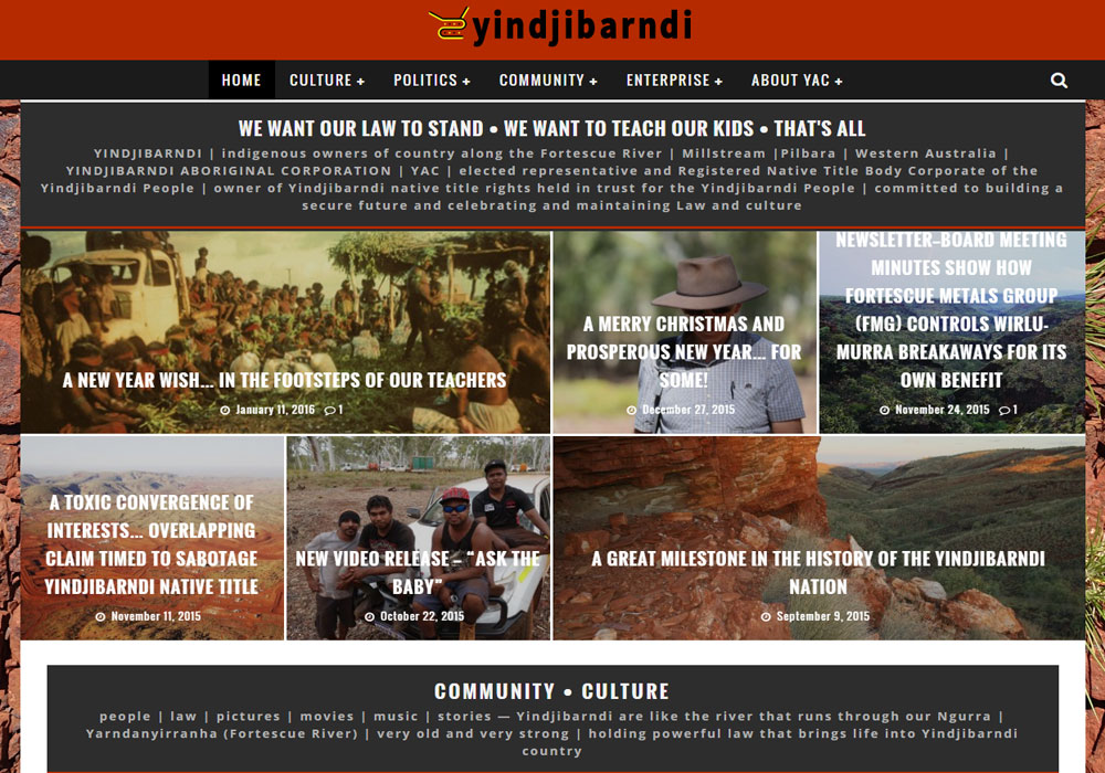 yindjibarndi aboriginal community new portal