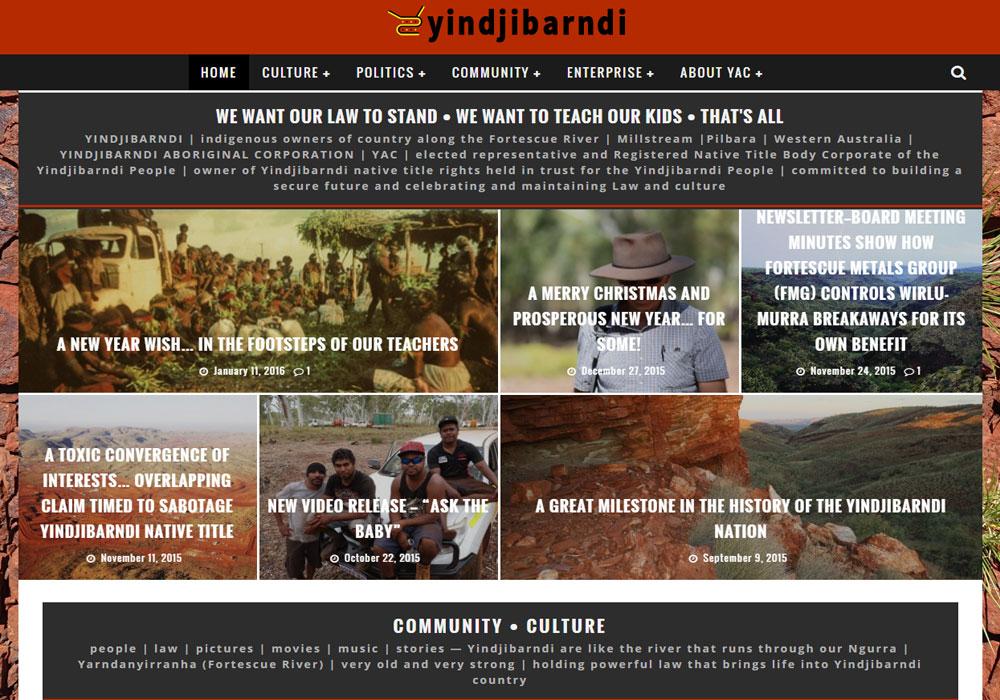 yindjibarndi aboriginal community new portal