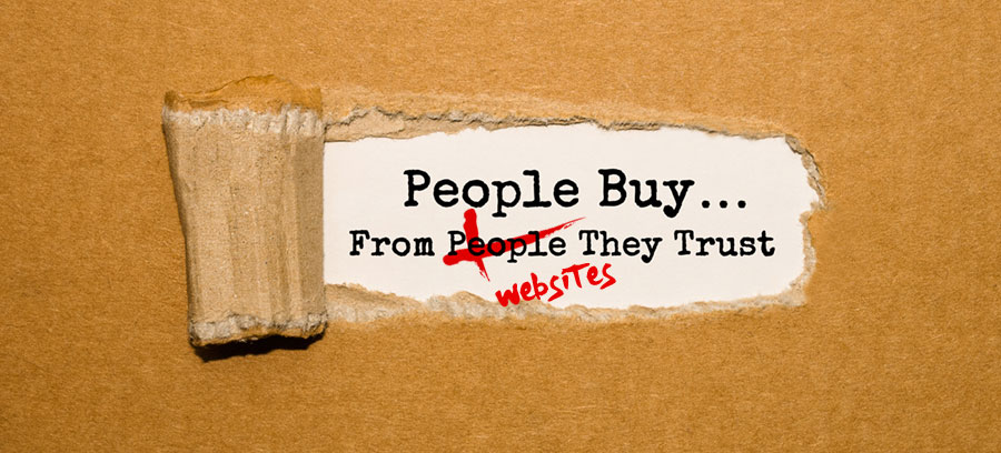 people buy from websites they trust
