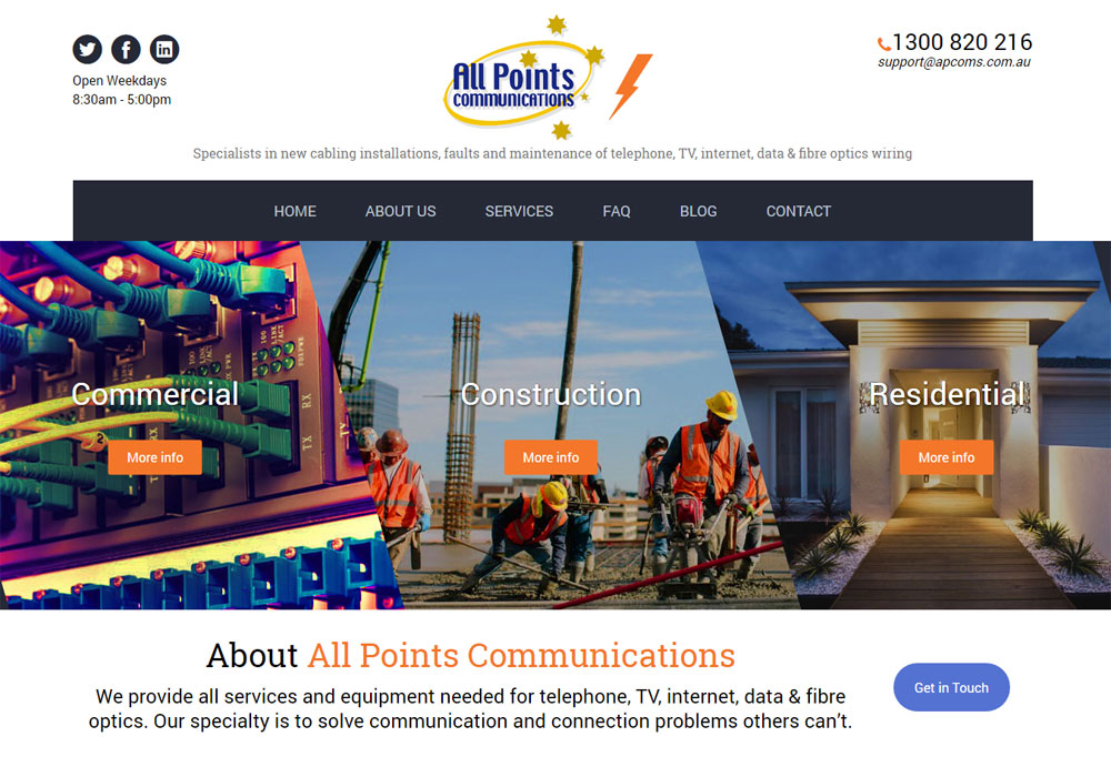 All Points Communications (website and strategy)