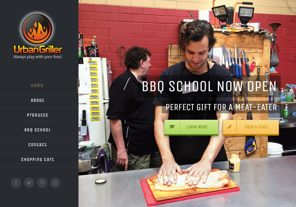 Urban Griller BBQ School website
