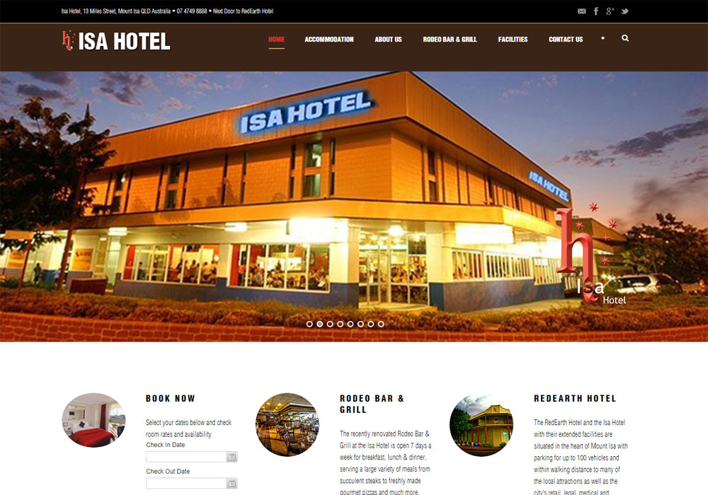 isa hotel website