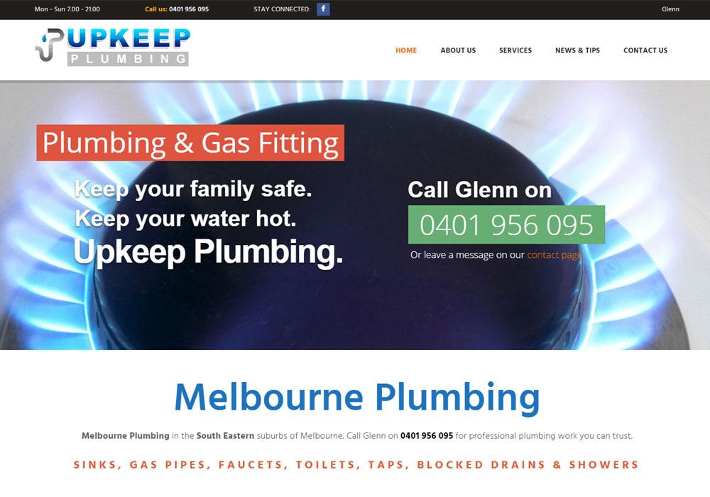 Upkeep Plumbing Melbourne - Content, Google Ads & SEO