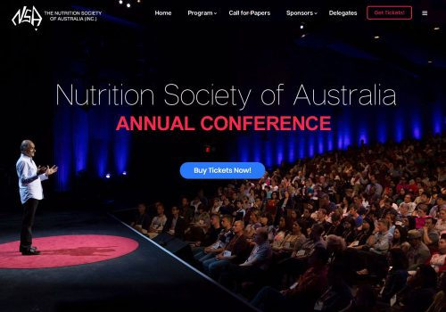 Nutrition Society Australia - Site Design / Mockups