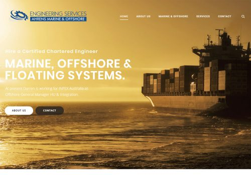 Ahrens Marine & Offshore Engineering Services - Web Design & Content
