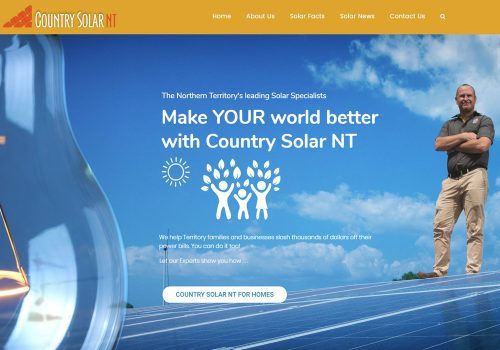 Country Solar Northern Territory - Web Design, SEO & Content Marketing