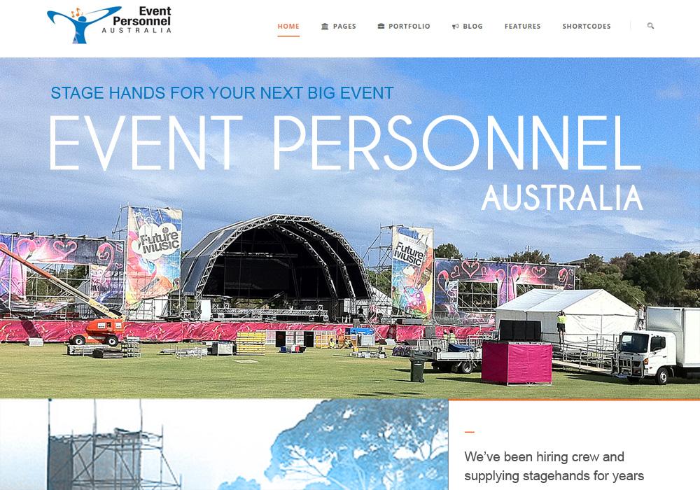 Event Personnel Australia Website Design