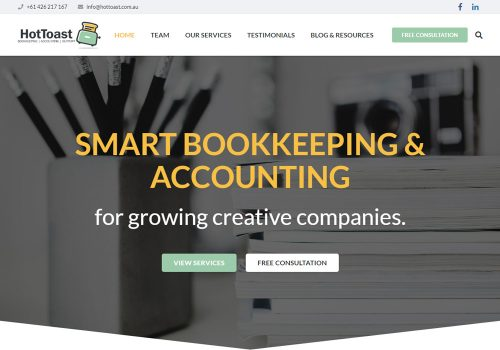 Hot Toast CPA Accountants (Sydney) - Site Migration, Adwords Campaigns, SEO
