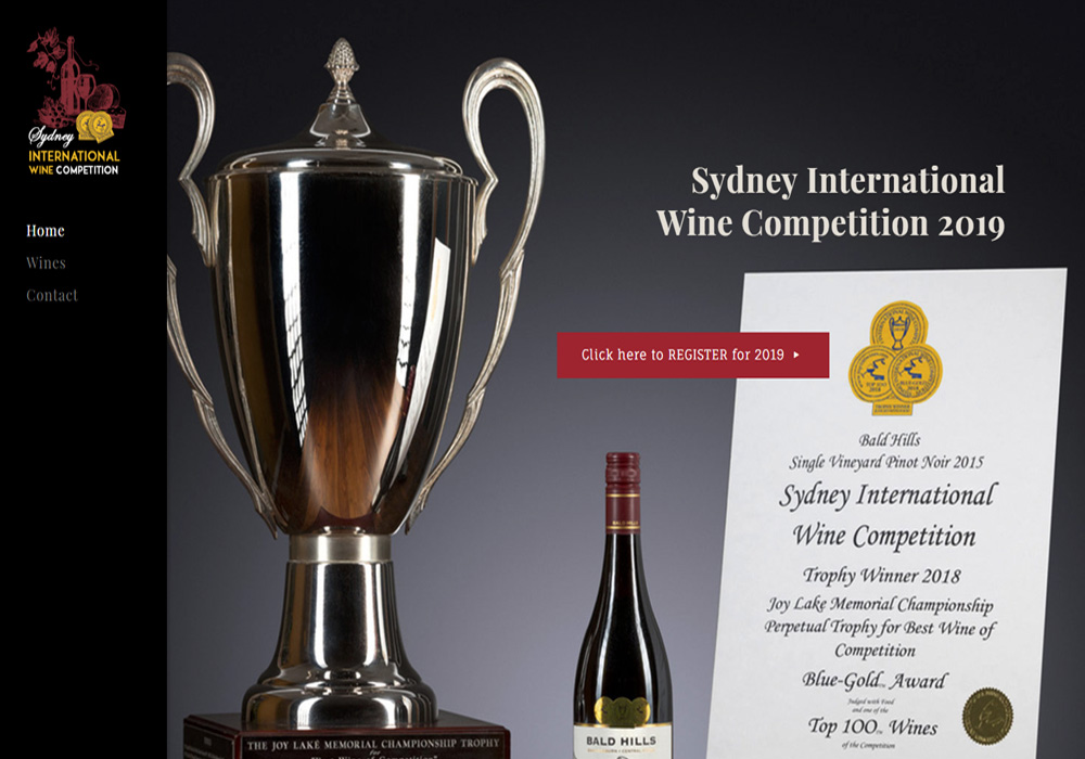 Sydney International Wine Competition - Custom Website with Wine Search Db & Deep SEO