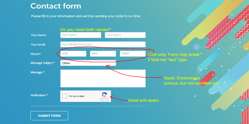 form conversion issues