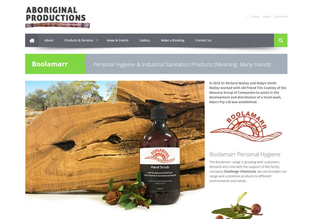 boolamarr product page for aborignal productions