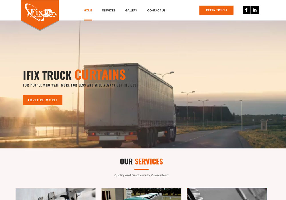 i fix truck curtains website maintenance and seo