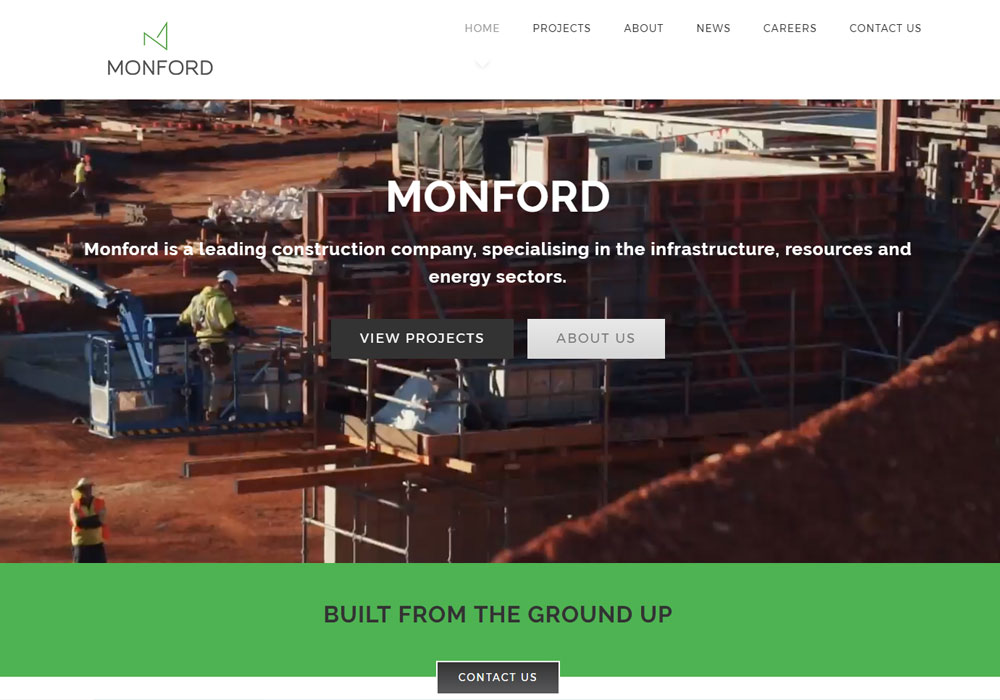 monford group website maintenance and upgrades