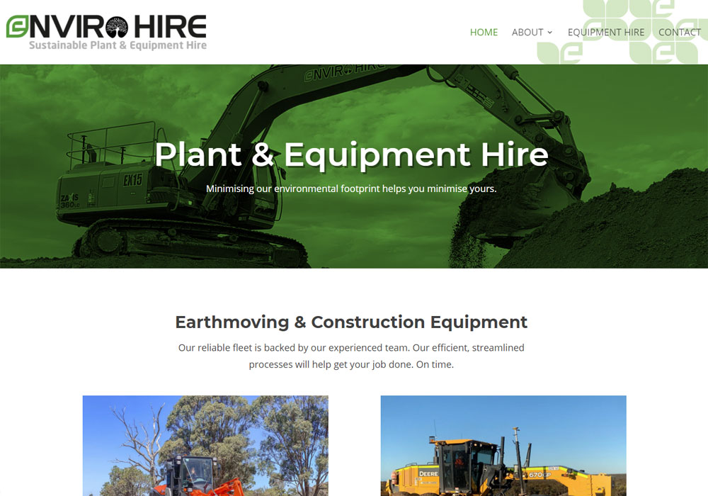enviro plant hire website