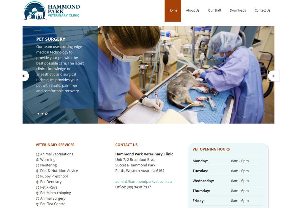 Hammond Park Vet website